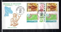 COTE D'IVOIRE  N° 495A + 496A  ENVELOPPE PREMIER JOUR COTE  ? €   ARTISANAT UPU TELECOMMUNICATIONS PHILEXAFRIQUE - Costa De Marfil (1960-...)