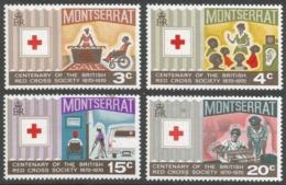 Montserrat. 1970 Centenary Of British Red Cross. MNH Complete Set. SG 238-241 - Montserrat