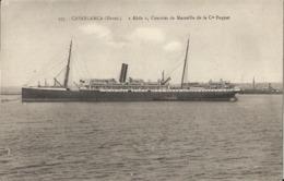 Casablanca - Abda - Courrier De Marseille De La Compagnie Paquet - Bateaux - Paquebot - Casablanca