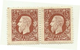 1869 - Belgio 28B Effigie X 2 - 1869-1883 Leopold II