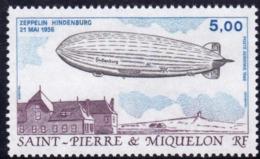 Saint Pierre Et Miquelon YT PA 66 Zeppelin Hindenburg N** - Neufs