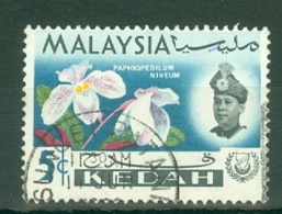 Malaya - Kedah: 1965   Flowers    SG117    5c   Used - Kedah