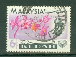 Malaya - Kedah: 1965   Flowers    SG118    6c   Used - Kedah