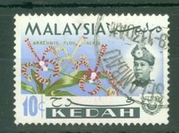 Malaya - Kedah: 1965   Flowers    SG119    10c   Used - Kedah