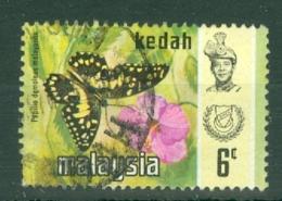 Malaya - Kedah: 1971/78   Butterflies    SG127    6c   [Litho]  Used - Kedah