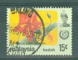 Malaya - Kedah: 1979   Flowers   SG139    15c    Used - Kedah