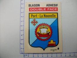 Blason Adhésif  PORT-LA NOUVELLE (11) Aude - Port La Nouvelle
