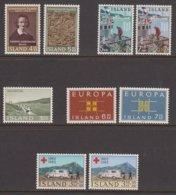 1963 ** Islande (sans Charn., MNH, Postfrish) Complete Yv 323/31  Mi 368/76  FA 405/13 - Komplette Jahrgänge