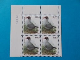 A - 10 %  BLOC DE 4  N ° 3368  DU 23 III 04 - 1985-.. Oiseaux (Buzin)