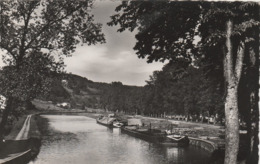 CPSM:FONTENOY LE CHATEAU (88) PÉNICHE  PORT DU CANAL DE L'EST...ÉCRITE - France