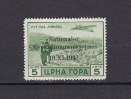 Montenegro - 1943 - Michel Nr. 18 - Ungebr. - 25 Euro - Occupation 1938-45