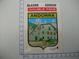 Blason Adhésif  ANDORRE  Casa De Les Valis - Andorre