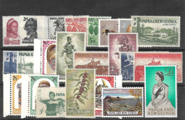 Papouasie-Nlle Guinée 1958/64 Yvert 18/40 Neufs** MNH -infimes Rousseurs Au Verso Du N°25- (AA10) - Papouasie-Nouvelle-Guinée
