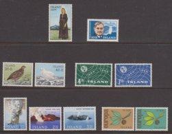 1965 ** Islande (sans Charn., MNH, Postfrish) Complete Yv 343/54  Mi 388/98  FA 425/35  (11v) - Komplette Jahrgänge