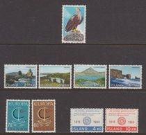 1966 ** Islande (sans Charn., MNH, Postfrish) Complete Yv 353/62  Mi 399/07  FA 436/44  (9v) - Komplette Jahrgänge