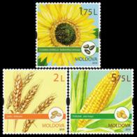 2019Moldova 1113-1115Flora. Field Crops - Plants