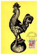 Thème Animaux - Oiseaux Coq - France Carte Maximum - Farm