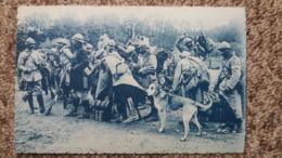 CPA SAC AU DOS TROUPES ALLANT EN PREMIERE LIGNE OISE 1916 GUERRE 14 CHIEN - Guerra 1914-18