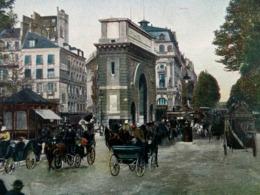 CPA 75 PARIS 10° Animée PORTE ET BOULEVARD SAINT MARTIN. 1907 . Colorisée , Omnibus , Fiacres , Calèche - Arrondissement: 10
