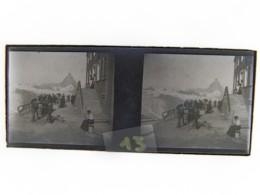 CHAMONIX : Montenvers. Glaciers. Plaque De Verre Stéréoscopique. Négatif - Glass Slides