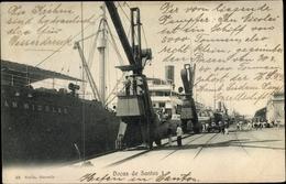 Cp Santos Brasilien, Docas, Hafen, Dampfer, Kräne - Brasil
