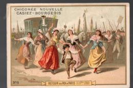 Paris  (révolution Française) Chromo Casiez-Bourgeois : Retour Du Roi à Paris   (PPP20785) - Cromo