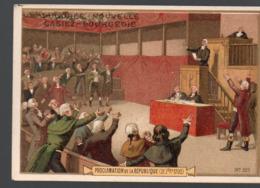 Paris  (révolution Française) Chromo Casiez-Bourgeois : Proclamation De La République  (PPP20787) - Cromo