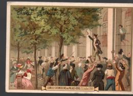 Paris  (révolution Française) Chromo Casiez-Bourgeois : Camille Desmoulins Au Palais Royal  (PPP20788) - Cromo