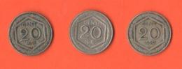 20 Centesimi 1918 1919 1920 Nikel Regno D' Italia Re Vittorio Em. III° - 1861-1946: Königreich