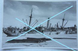 Photo CALAIS Mai Juin 1940 Destroyed Ship Navire Cargo  Operation Dynamo WW2 - War, Military