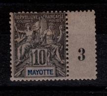 Mayotte - YV 5 N* (légère) Bandelette Millesime 3 , Type Groupe Cote 12+ Euros - Mayotte (1892-2011)