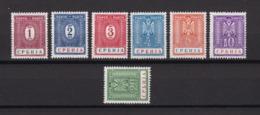 Serbien - 1942 - Portomarken - Michel Nr. 9/15 -- Ungebr. - 24 Euro - Bezetting 1938-45