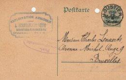 """Moustier (25/2/15) Cachet Privé """"Exloitation Agricole A Bertrand Et Soeur Moustier S/S-Froidmont - Trous Classement - German Occupation"""