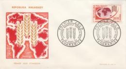 Madagascar FDC 1963 Yvert 378 - Campagne Mondiale Contre La Faim - Madagascar (1960-...)