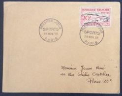 63- Natation Sports 960 FDC PremierJour Paris 28/11/1953 Lettre - 1950-1959