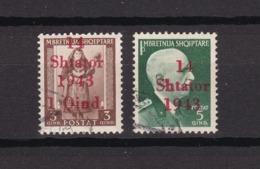 Albanien - 1943 - Michel Nr. 1+4 - Gest. - 20 Euro - Bezetting 1938-45