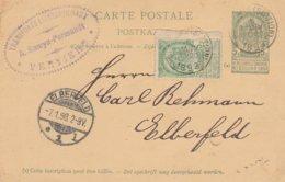 """Verviers Pour Elberfeld (Allemagne) Cachet Privé """"Transorts Internationaux A.SAMYN-ERMANDT Verviers - Postcards [1871-09]"""