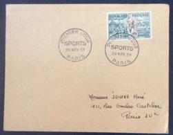 64- Athlétisme Sports 961 FDC PremierJour Paris 28/11/1953 Lettre - FDC
