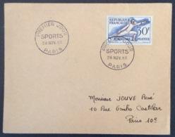 65- Escrime Sports 962 FDC PremierJour Paris 28/11/1953 Lettre - FDC