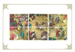 BELGIË/BELGIQUE :1967: Y.1437-42 On Souvenir Card : PIETER BREUGEL,ART Of PAINTING,#KINDERSPELEN/JEUX D'ENFANTS#,T.B.C., - Maximum Cards