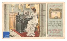 Chromo Instrument De Musique Harmonium Femme Piano église Soufflet A30-2 - Cromo