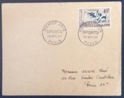 66- Canoë Sports 963 FDC PremierJour Paris 28/11/1953 Lettre - FDC