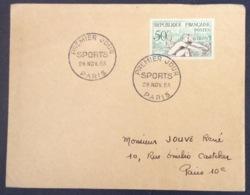 67- Aviron  Sports 964 FDC PremierJour Paris 28/11/1953 Lettre - FDC