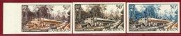Cameroun 1955 #C34, Color Proof X3, Logging Tree - Unused Stamps