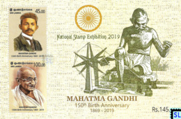 Sri Lanka Stamps 2019, Mahatma Gandhi, India, National Stamps Exhibition, MS - Sri Lanka (Ceylon) (1948-...)