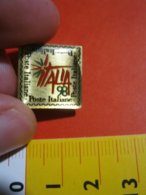 MED.1 PIN'S PIN PINS - ITALIA 1998 ITALIA'98 EXPO MONDIALE FILATELIA POSTE ITALIANE - Poste