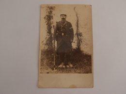 CPA Photo Militaria 14-18 Poilu 134° Régiment Fusil Chassepot Avec Baillonnette - War 1914-18