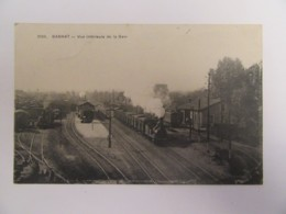 Gannat (Allier) N°3000 - Vue Intérieure De La Gare - Train à Vapeur Au Départ - Carte Animée, Circulée En 1917 - Autres Communes