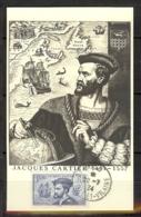 N° 297 JACQUES CARTIER OBLITERE ST MALO DU 20/07/34 SUR CARTE MAXIMUM - Cartoline Maximum