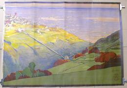 Manifesto Paesaggio - Illustratore Cavalieri - Ed. G. Ricordi - Milano - Vieux Papiers
